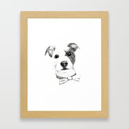 Jack Russell - Bo with a Bow Tie Framed Art Print