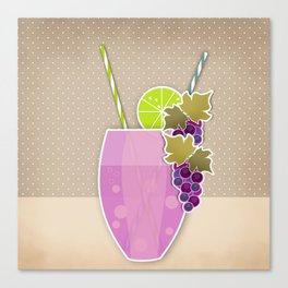 "Picture. The grape juice. From a set of paintings. The ""kitchen"". Canvas Print"