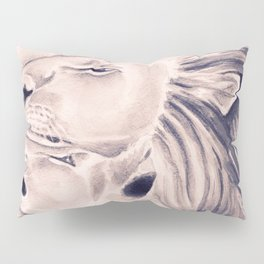 Two Lions Vintage Style Pillow Sham