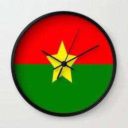 Flag of Burkina Faso Wall Clock