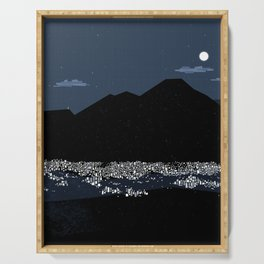 Caracas City at Night by Friztin Serving Tray