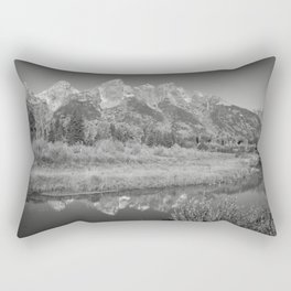 Snow Capped Mountains and a Reflection Rectangular Pillow