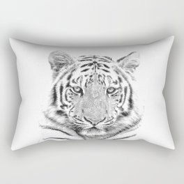 Black and white tiger Rectangular Pillow
