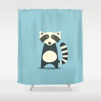 raccoon Shower Curtains featuring RACCOON by Seokhyun Shim