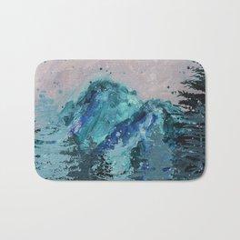 Mount Baker - Washington - Mountain Painting Bath Mat
