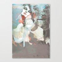 death Canvas Prints featuring Death  by Felicia Atanasiu