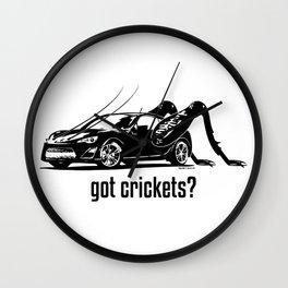 Got Crickets? ~Black~ Wall Clock