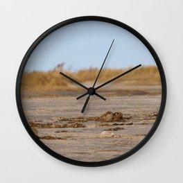 At the beach 1 Wall Clock