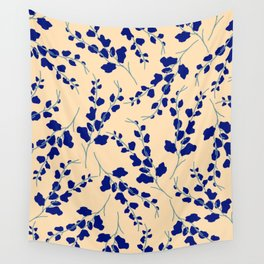 Blue Buds Wall Tapestry