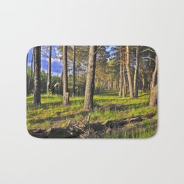 Dreaming Summer Forest Bath Mat