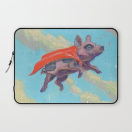 flying pig - by phil art guy Laptop Sleeve