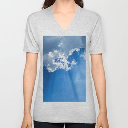 Silver lining cloud Unisex V-Neck