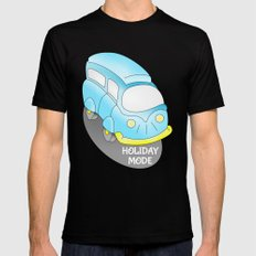 Holiday Mode Camper Van Black Mens Fitted Tee MEDIUM