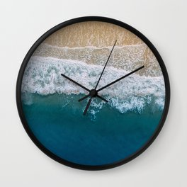 Water on the Beach (Color) Wall Clock