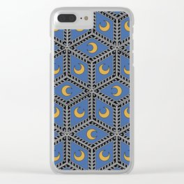 Siena Diamond Moon Seamless Pattern Clear iPhone Case