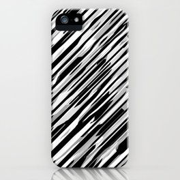 Diagonals mix gray iPhone Case