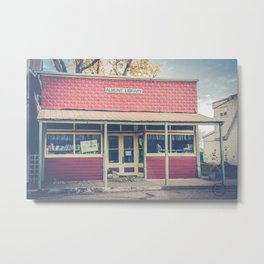 Little Library, Almont, North Dakota Metal Print