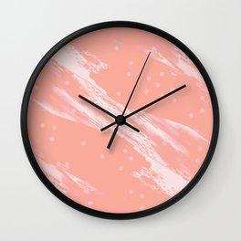 Millennial Coral Wall Clock