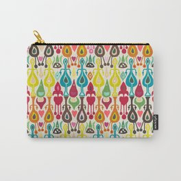 ivory love ikat Carry-All Pouch