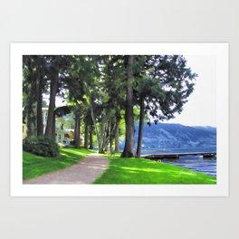 Cultas Lake - Main Beach Art Print