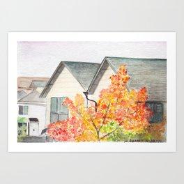 North Seattle Apartment View Art Print