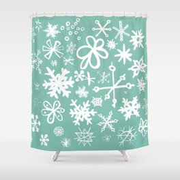 Snowflake Pond Shower Curtain