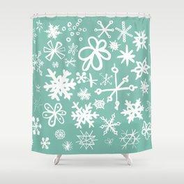 Snowflake Pond Shower Curtain