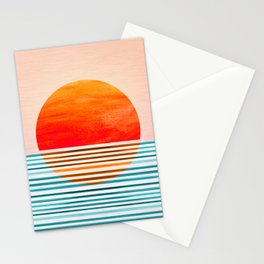 Minimalist Sunset III Stationery Cards