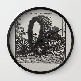 Lowercase b Wall Clock