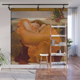 Flaming June Oil Painting by Frederic Lord Leighton Wall Mural