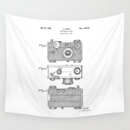 patent photographic camera 1938 Wall Tapestry