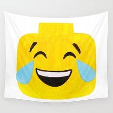 Tears of Joy - Emoji Minifigure Painting Wall Tapestry