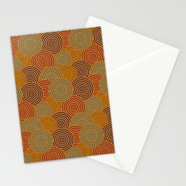 Desert Circles - Burnt Orange Stationery Cards