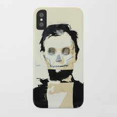 Abraham Lincoln (skull) iPhone X Slim Case