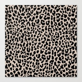 Tan Leopard Canvas Print