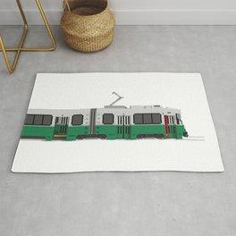 Boston Green Line Train Rug