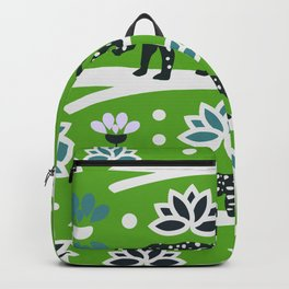 Wild felines and flowers Backpack
