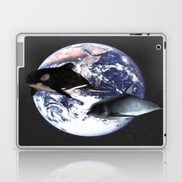Whale & Dolphin in space Laptop & iPad Skin