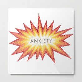 Anxiety Attack Metal Print