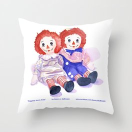 Raggedy Anne / Andy Throw Pillow