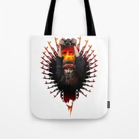 apocalypse now Tote Bags featuring Apocalypse now by LukArt