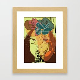 Getting ready in the lamplight Framed Art Print