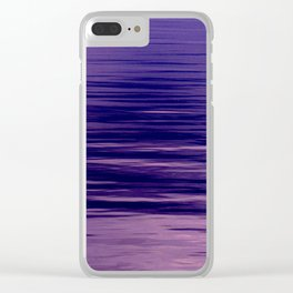 Movement of Water on a Calm Evening- Violet Abstraction Clear iPhone Case