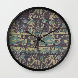Elephant Batik Wall Clock