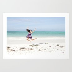 Jambiani Jumps Art Print
