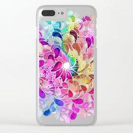 mandala rainbow pattern Clear iPhone Case