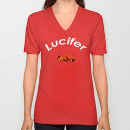 Lucifer 666 Unisex V-Neck