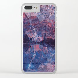 Glitch3d Clear iPhone Case