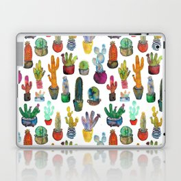 Funky Rainbow Cactus Pattern Laptop & iPad Skin