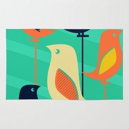 Mid Century Birds Rug